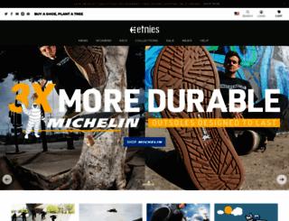 etnies.com screenshot