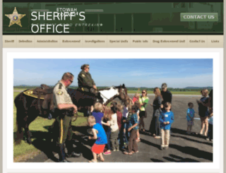 etowahcountysheriff.com screenshot