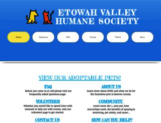 etowahvalleyhumane.org screenshot