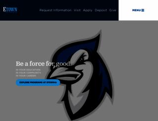 etown.edu screenshot