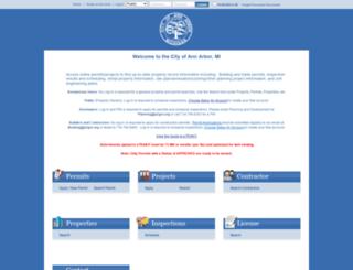 etrakit.a2gov.org screenshot