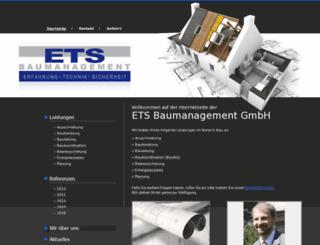 ets-baumanagement.com screenshot