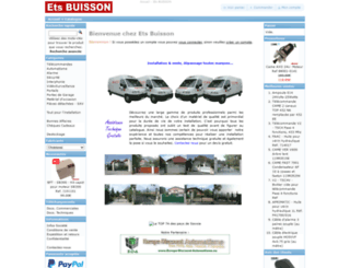 ets-buisson.com screenshot