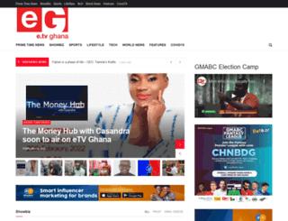etvghana.com screenshot