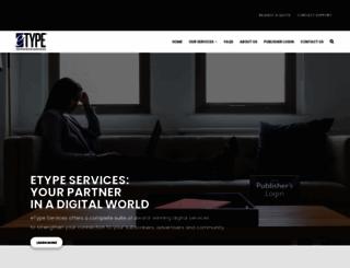 etypeservices.com screenshot