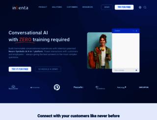eu.inbenta.com screenshot