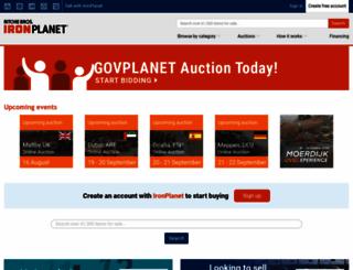 eu.ironplanet.com screenshot
