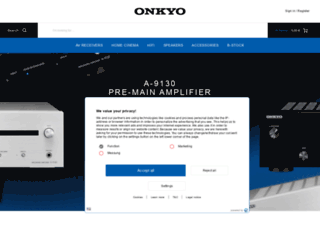 eu.onkyo.com screenshot