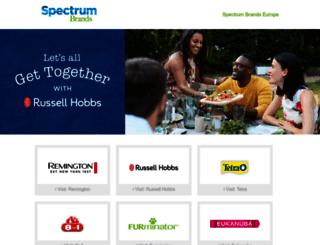 eu.spectrumbrands.com screenshot