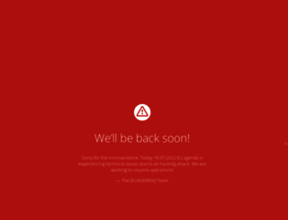 euagenda.eu screenshot