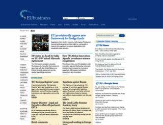eubusiness.com screenshot