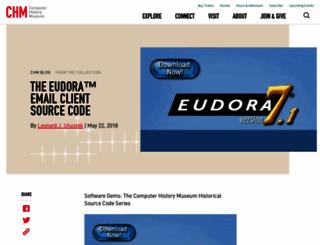 eudora.com screenshot