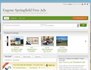 eugene-springfield.oregonfreeads.net screenshot