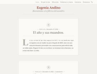 eugeniaandino.es screenshot