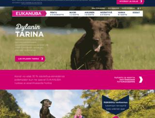 eukanuba.fi screenshot