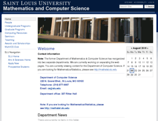 euler.slu.edu screenshot