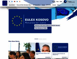 eulex-kosovo.eu screenshot