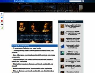 eupedia.com screenshot