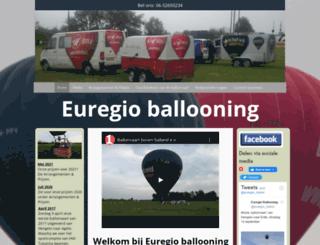 euregioballooning.nl screenshot