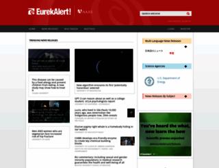 eurekalert.org screenshot