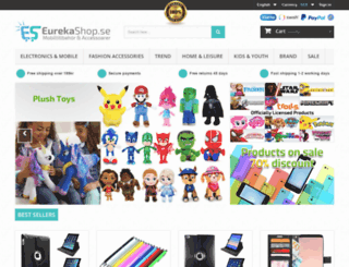 eurekashop.se screenshot
