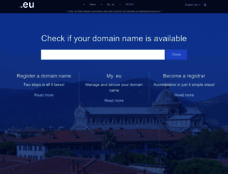 eurid.eu screenshot