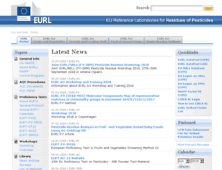 eurl-pesticides.eu screenshot