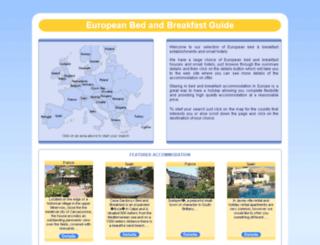 euro-bandb-guide.co.uk screenshot