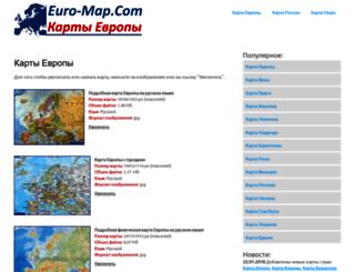 euro-map.com screenshot