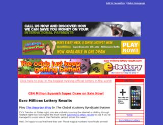 euro-millions-lottery-results.com screenshot