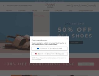 euro.evansfashion.com screenshot