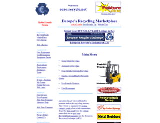 euro.recycle.net screenshot
