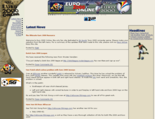 euro2000.soccergaming.com screenshot