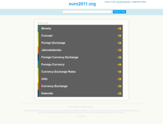 euro2011.org screenshot