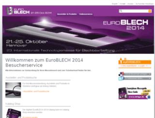 euroblech.messe.de screenshot