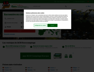 eurocampings.es screenshot