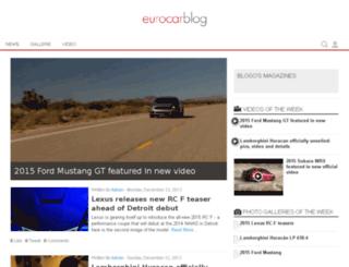 eurocarblog.com screenshot