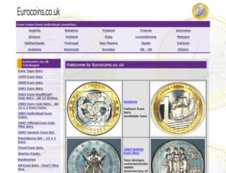 eurocoins.co.uk screenshot