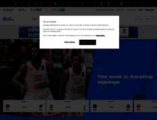 eurocupbasketball.com screenshot