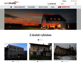 eurodrazby.cz screenshot