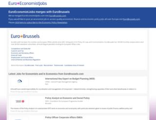 euroeconomistjobs.com screenshot