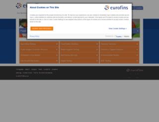 eurofins.co.uk screenshot