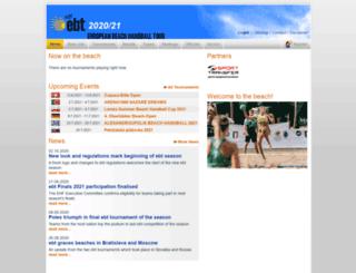 eurohandball-beachtour.com screenshot