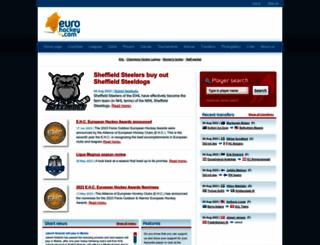 eurohockey.com screenshot