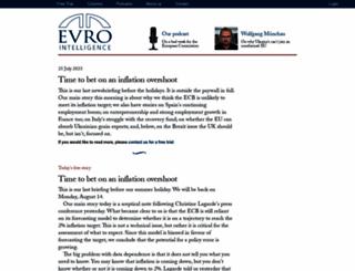 eurointelligence.com screenshot