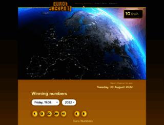 eurojackpot.com screenshot