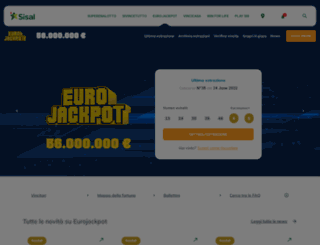 eurojackpot.it screenshot