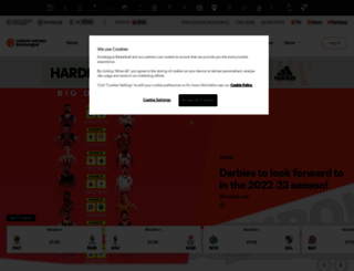 euroleague.net screenshot