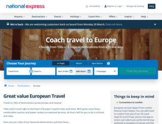 eurolines.co.uk screenshot