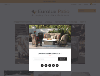 euroluxpatio.com screenshot